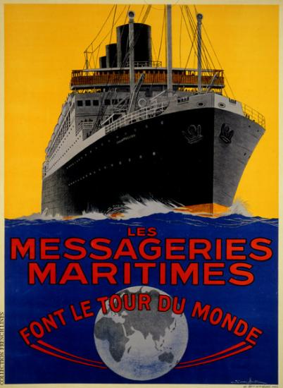 AFFICHE COLLECTION FRENCH LINE & MESSAGERIES MARITIMES