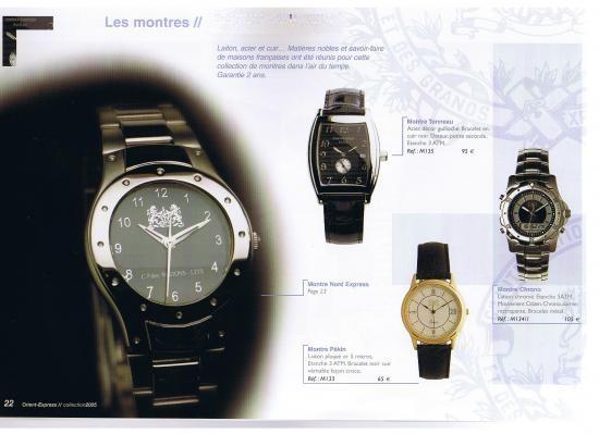Collection accessoires et Montres siglée WL