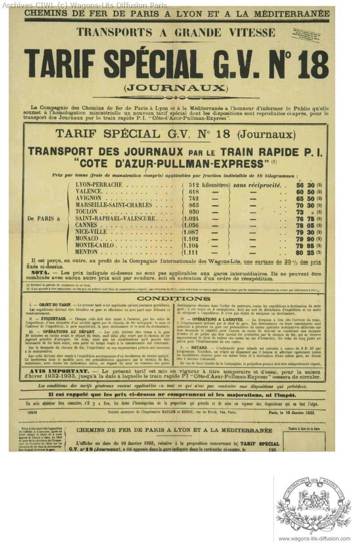 Plm cote azur pullman express wl