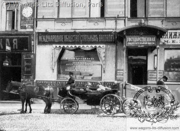 WL Agence de voyage Russie vers 1900
