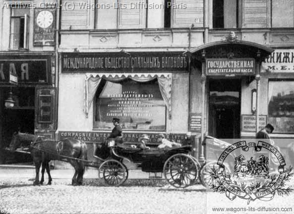 Wl agence de voyage russie vers 1901