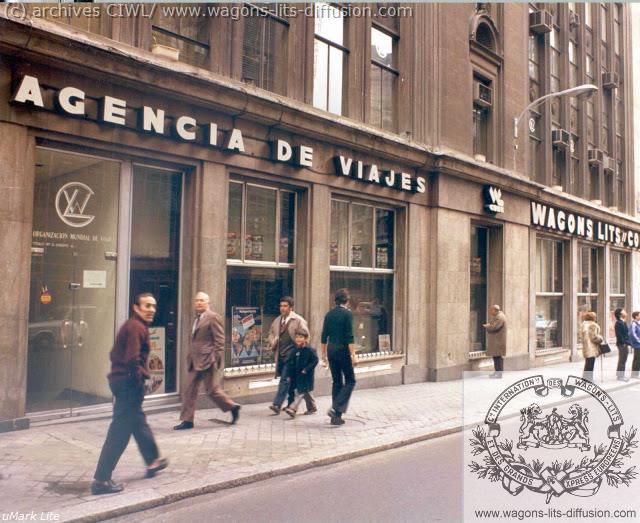 WL Agence voyage Madrid 1970