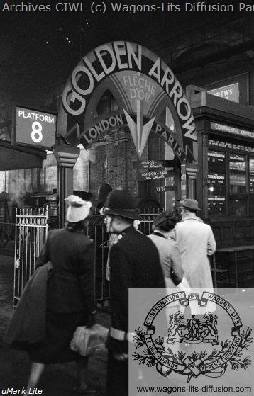 Wl depart du golden arrow de londres 1950