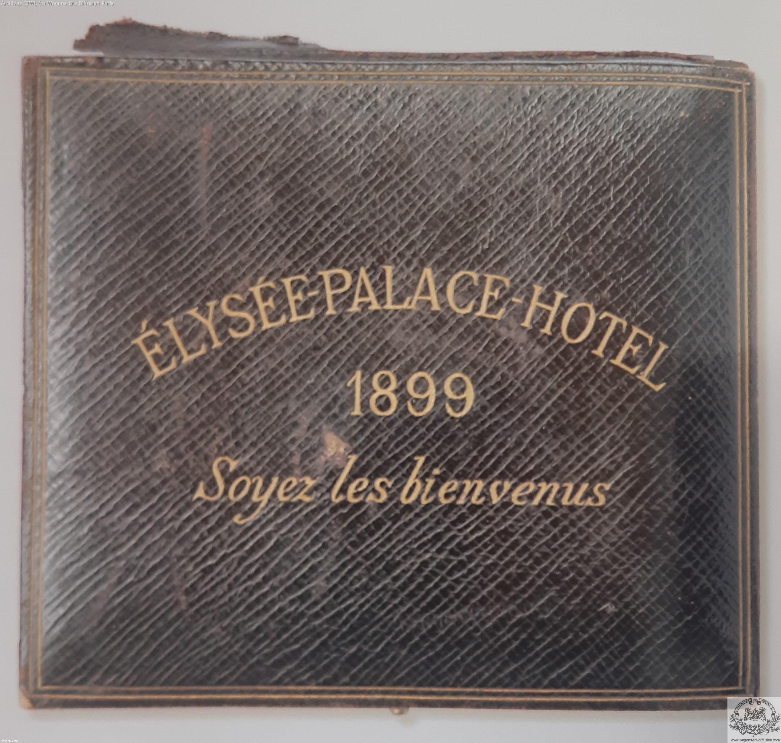 Wl elysees palace hotel paris 1899 gift