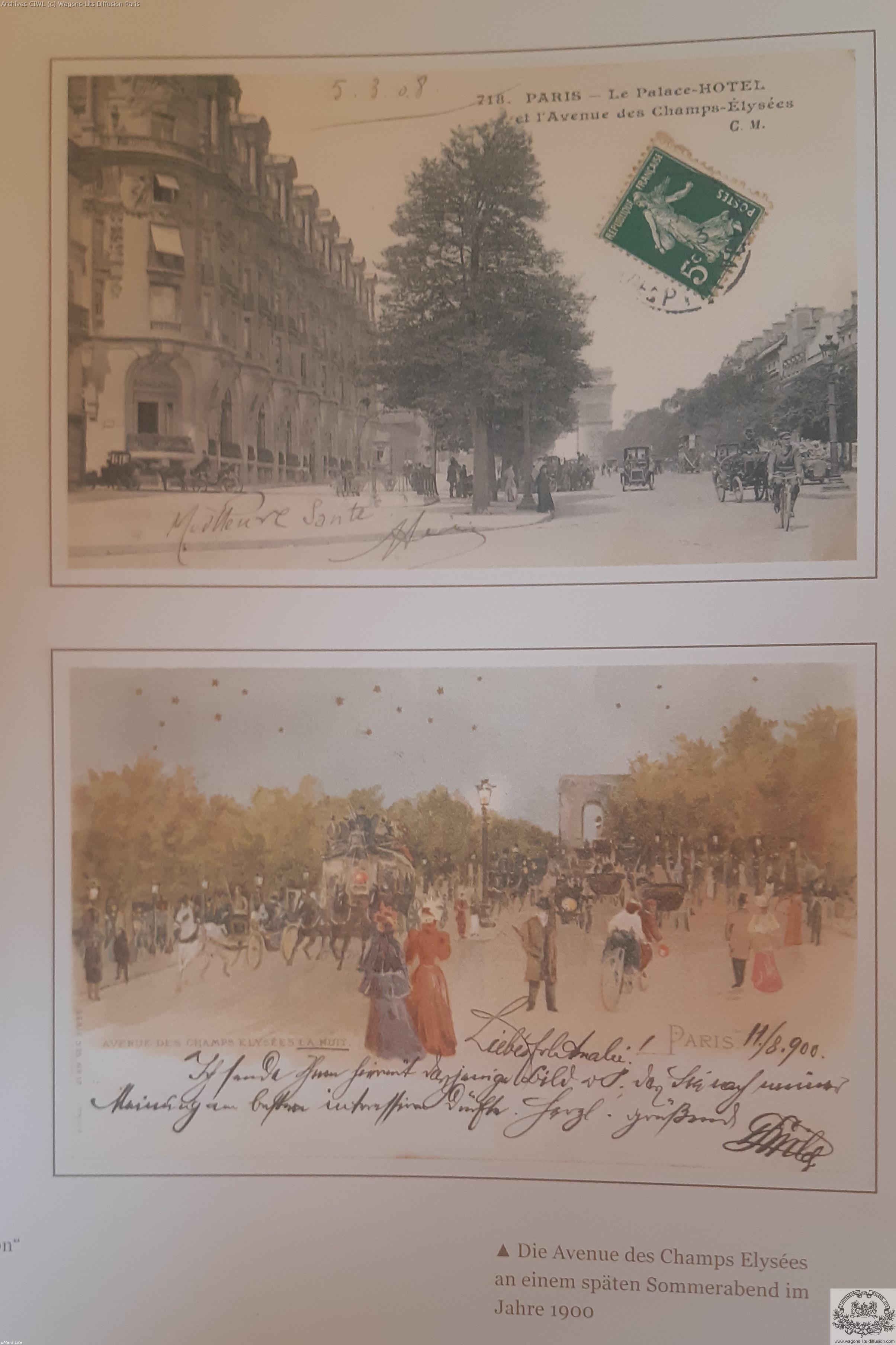 Wl elysees palace hotel paris 1900 cp
