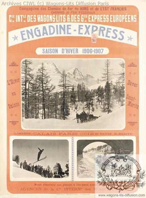 Wl engadine express affiche 1906
