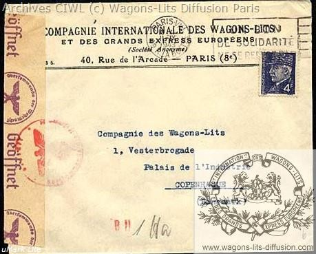 Wl enveloppe courrier 1941