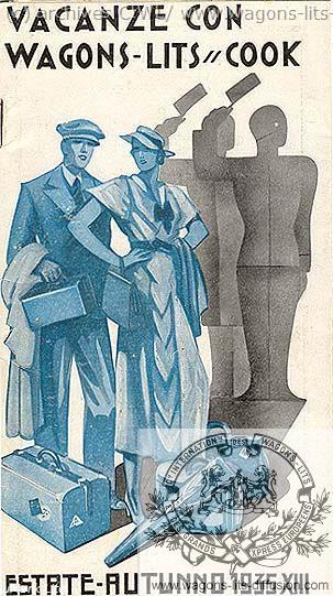 WL Folleto Vacance con Wagons-Lits Cook - Italia 1935