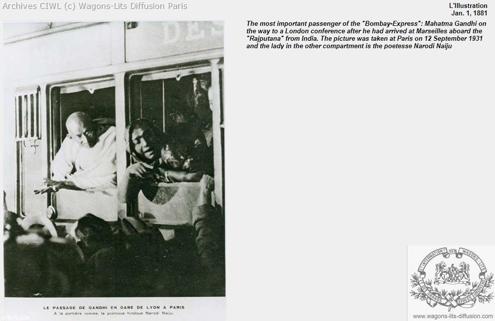 Wl gandhi marseille train bleu 1931