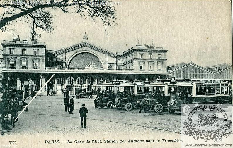 WL gare de l'est vers 1920