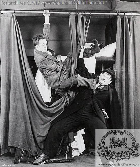 WL Laurel et Hardy en wagon lit