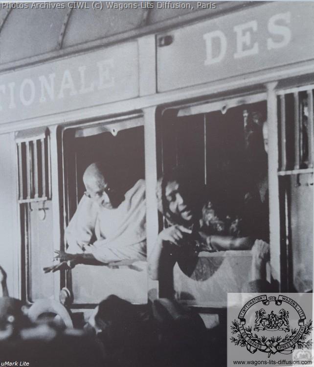Wl mahatma gandhi sur le train bleu 1931