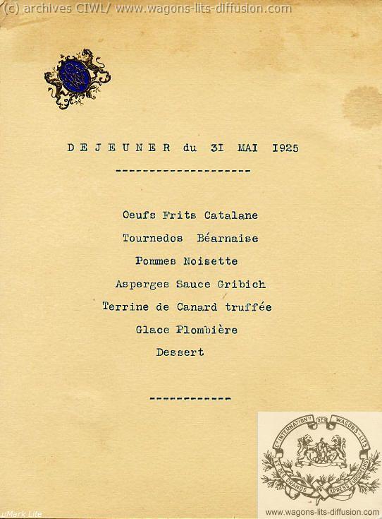 WL Menu 31Mayo1925 viaje del presidente de la republica Francesa al Bas-Rhin