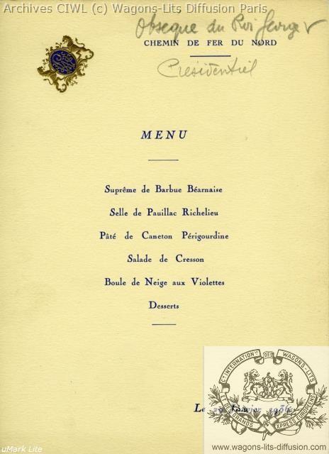 Wl menu obseque roi georges 5 1929