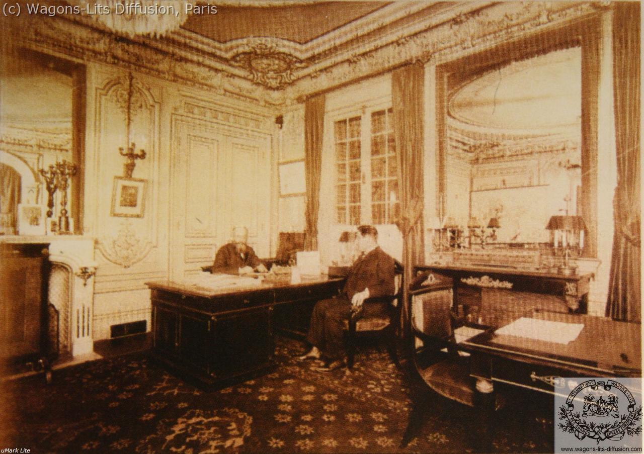 WL Nagelmackers dans son bureau parisien