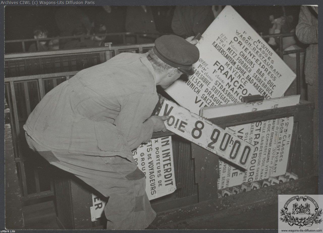 Wl orient express en gare 1950 2
