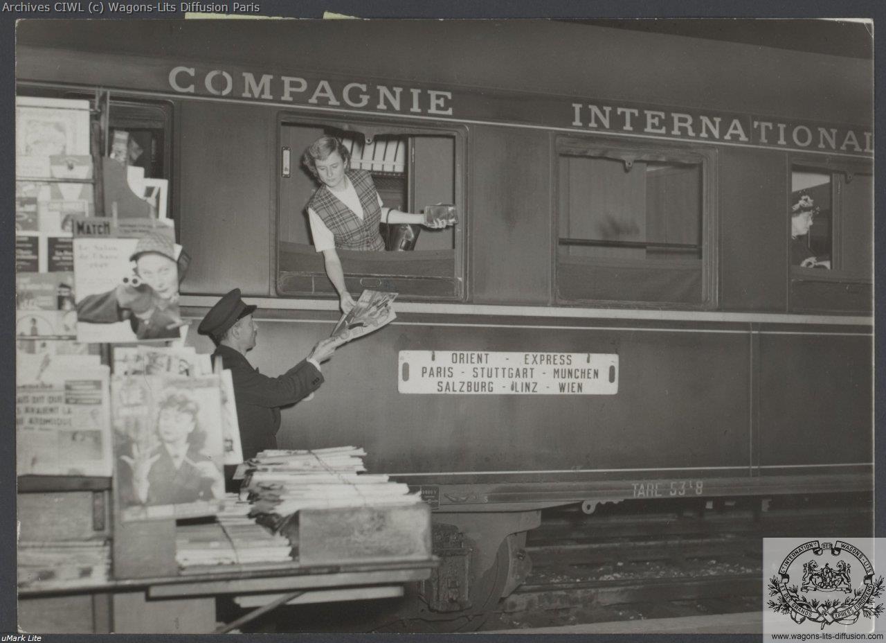Wl orient express en gare 1950