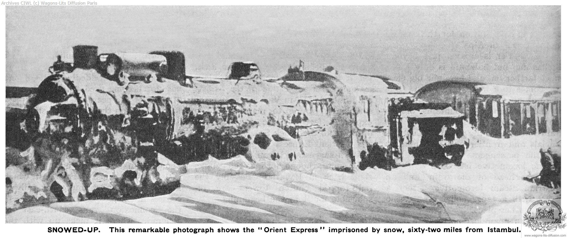 Wl orient express snowbound outside istambul rww 1935