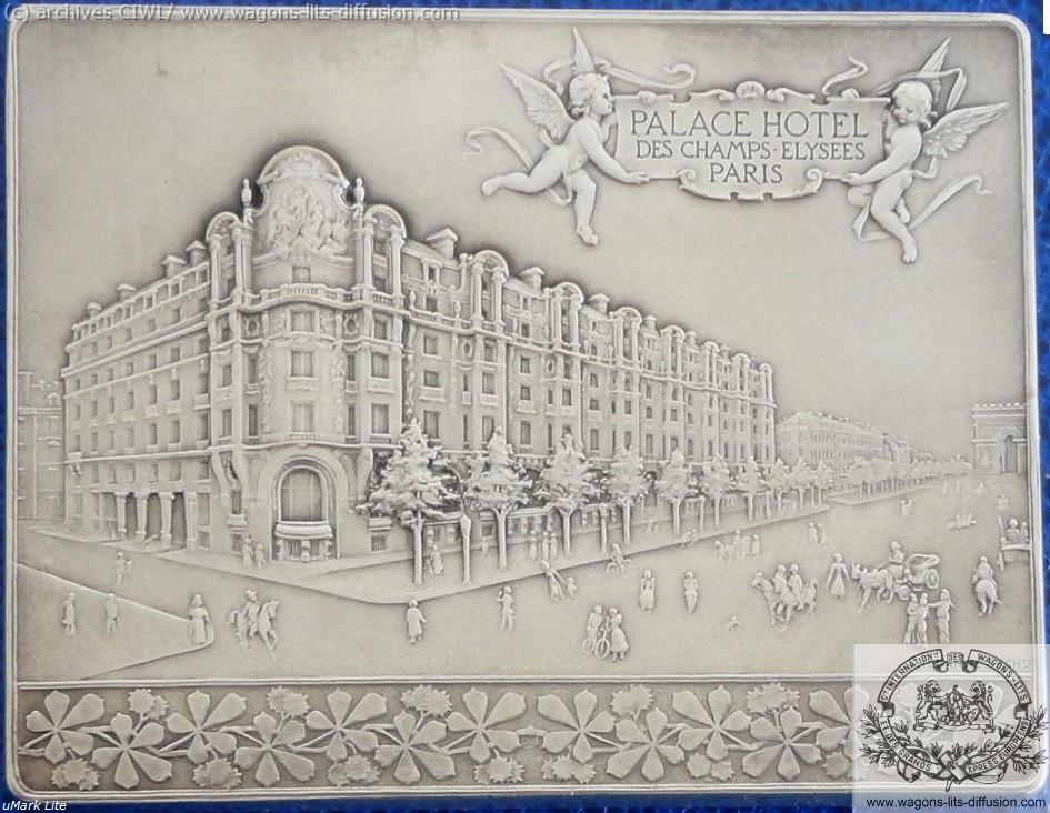 WL plaque commémorative Palace hotel Paris 1899 verso