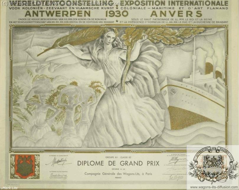 WL Prix Expo Univ Anvers 1930