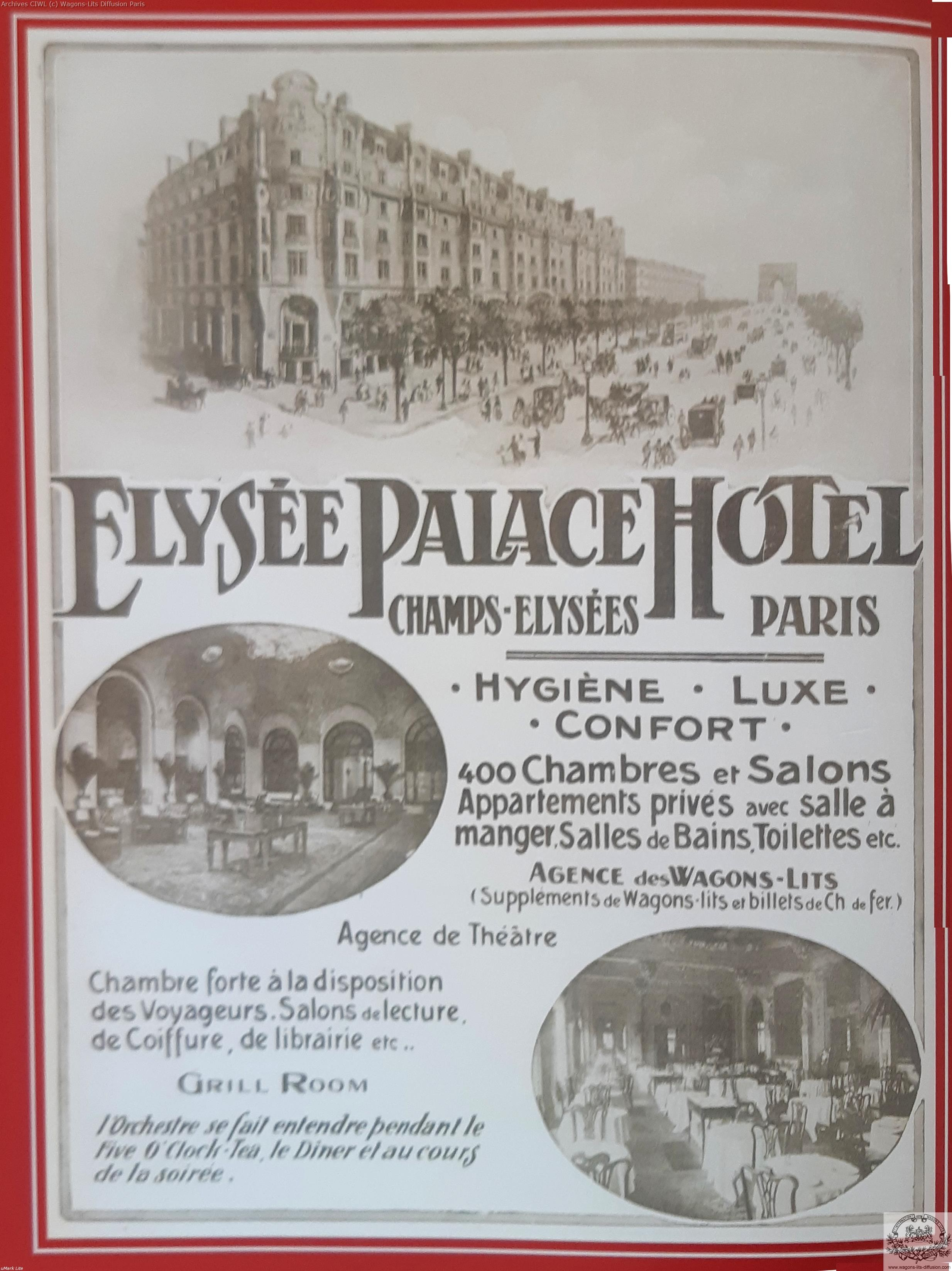 Wl pub elysees palace hotel paris 1900