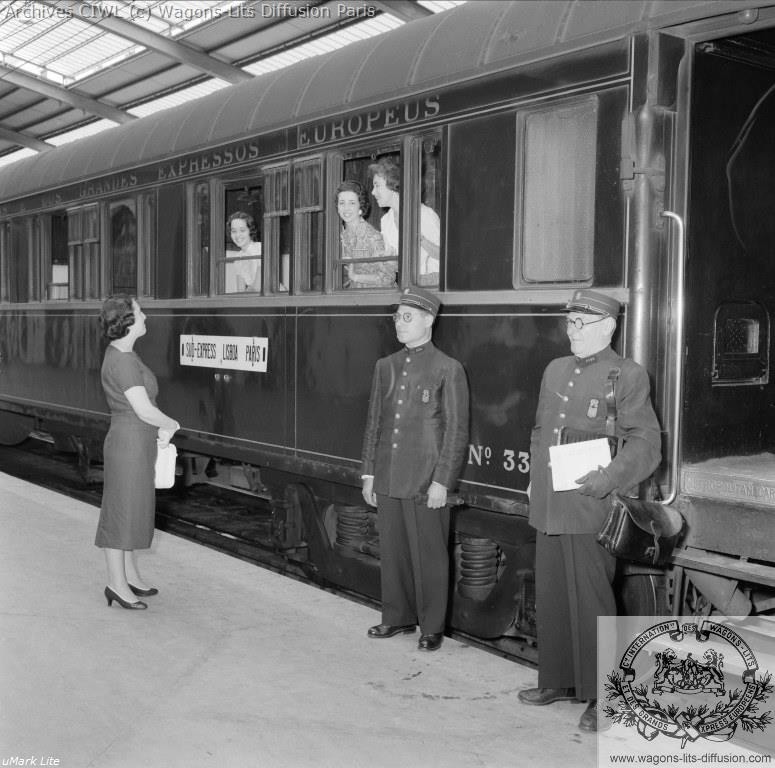 Wl sud express portugal voiture lits type s4 serie 3361 a 3380 metropolitan carriage 1927