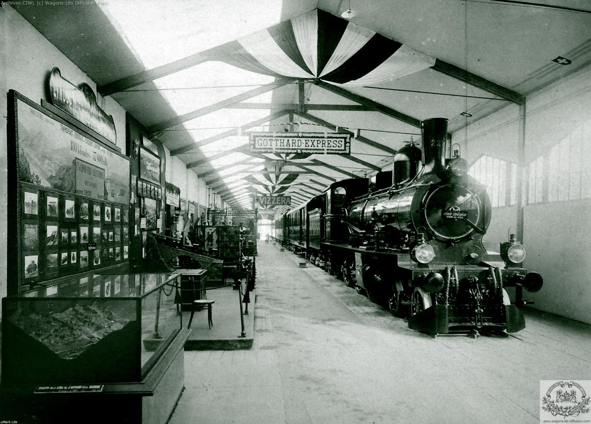 Wl switzerland gotthard express milan expo 1906
