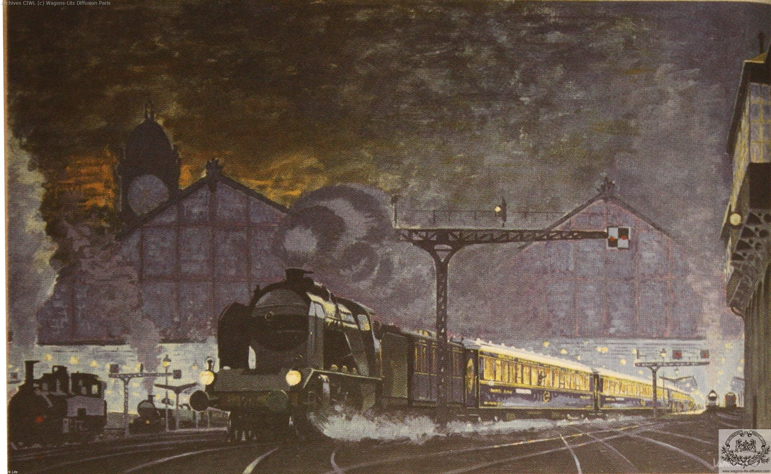 Wl train bleu a la gare de lyon 1929 j lamarche