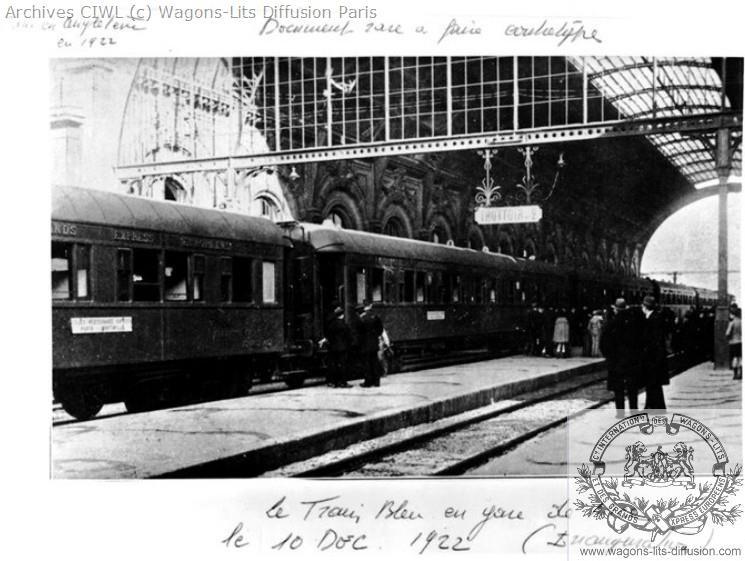 Wl train bleu gare de nice 1923