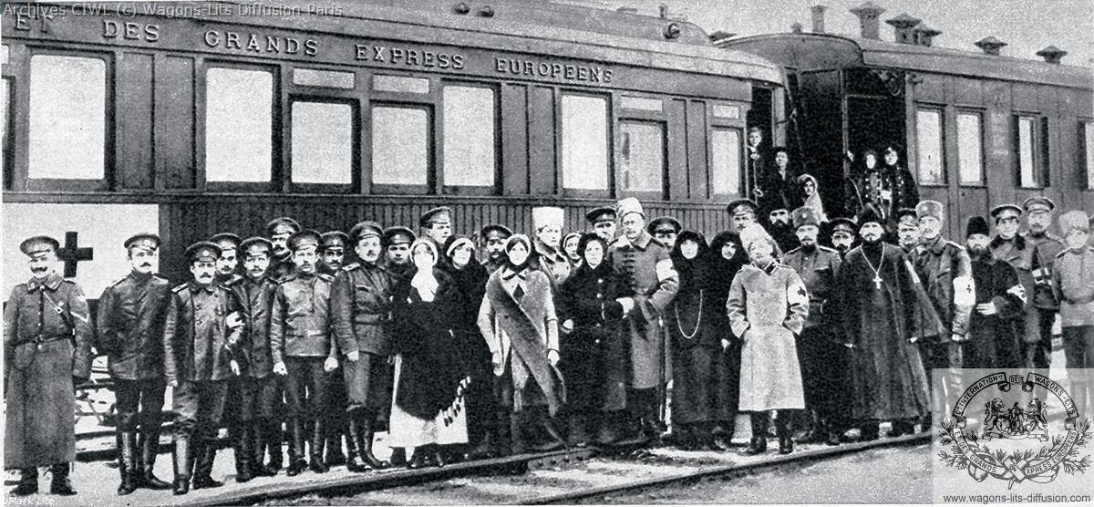 Wl train sanitaire de la croix rouge russe 1916