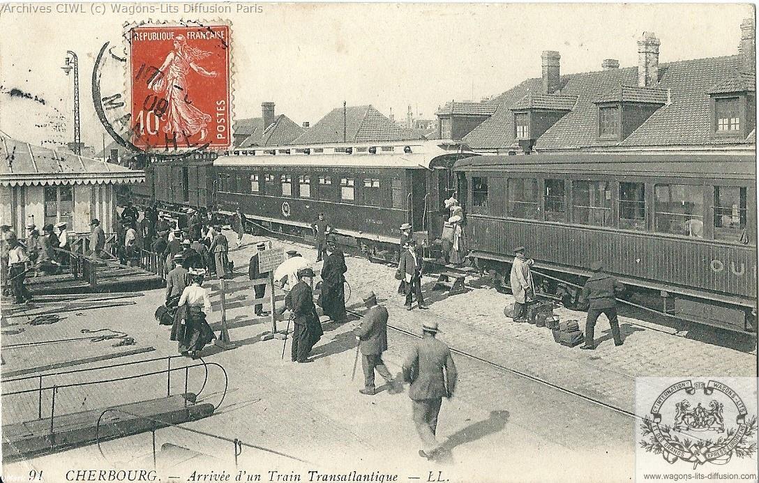Wl train transatlantique cherbourg cp