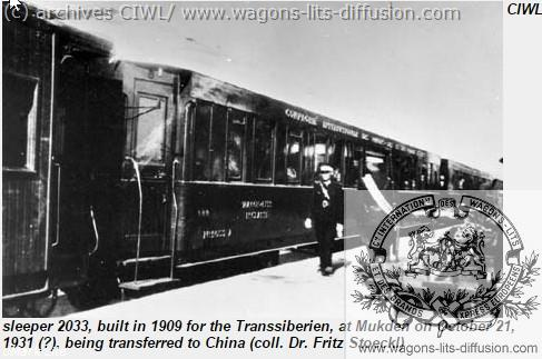 WL TRANSMANDCHOURIE CHINE 1931
