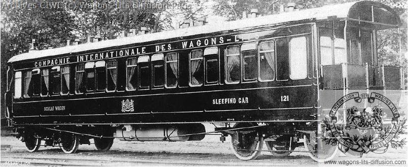 Wl voiture lit orient express vers 1901