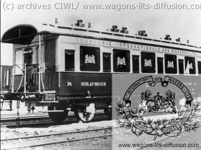WL voiture Orient Express en 1883