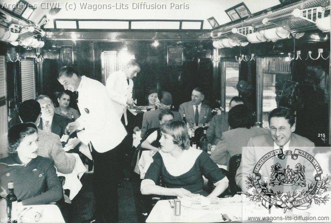 Wl voiture restaurant vr du train bleu vers1960 1