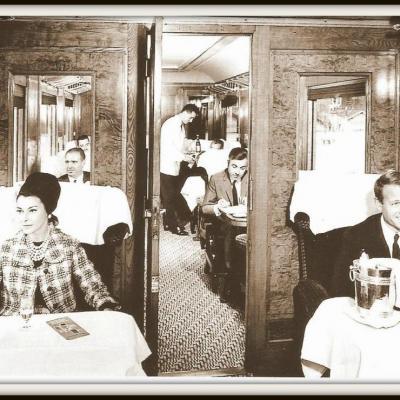 CIWL passagers voiture pullmann 1950
