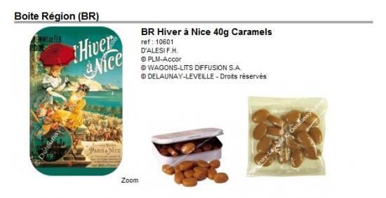 Epicerie:  Boites Caramels avec Affiches Régionales du PLM