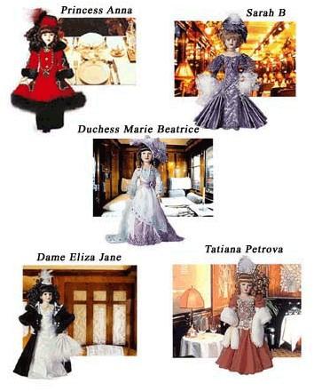 Jouets: Collection de poupées de porcelaine à bord des trains CIWL