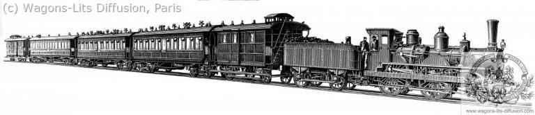 Orient Express vers 1890
