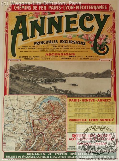 PLM Annecy affiche ferroviaire