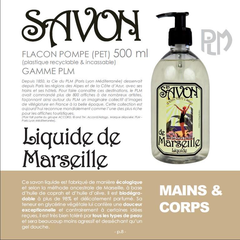 Savon de Marseille PLM, avec les affiches touristiques du PLM