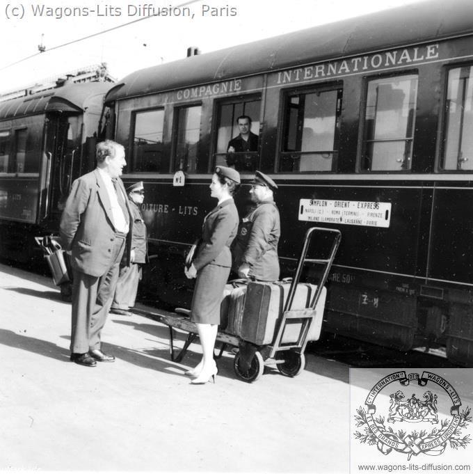 WL Accueil quai Simplon Orient Express 1958
