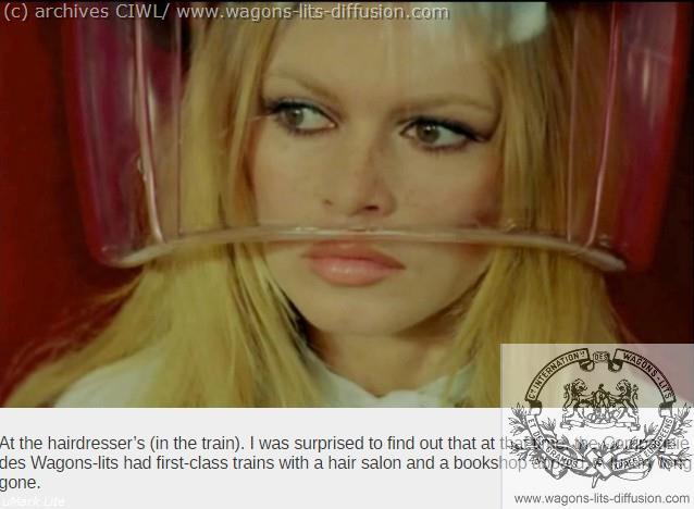 WL Brigitte Bardot à bord du Train Bleu 2