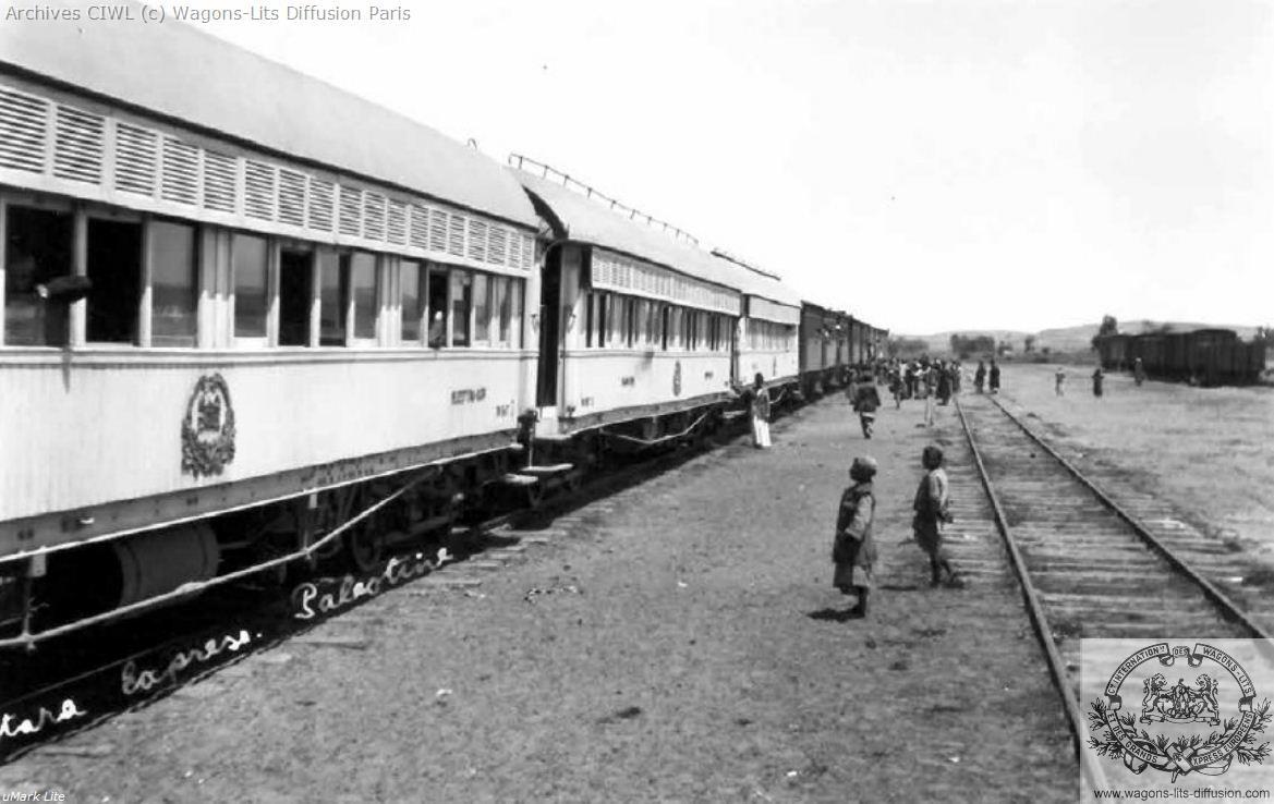 Wl egypt railways an esr passenger train from egypt to haifa