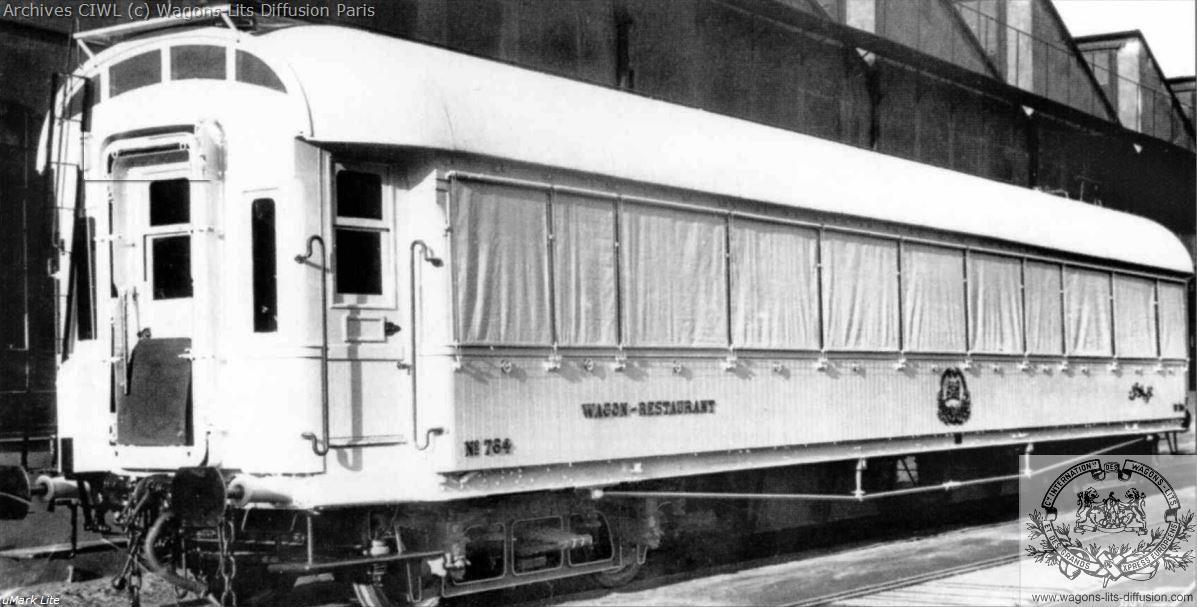 Wl egypt railways egyptian state railways ciwl dining car nr 764