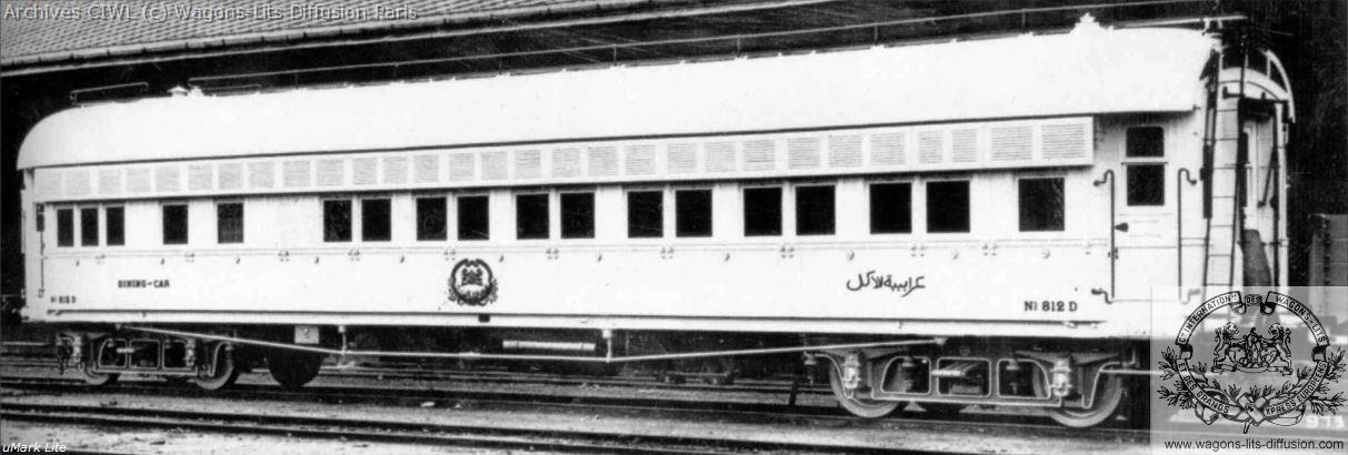 Wl egyptian state railways ciwl wagons lits dining car nr 812 ringhoffer 1899
