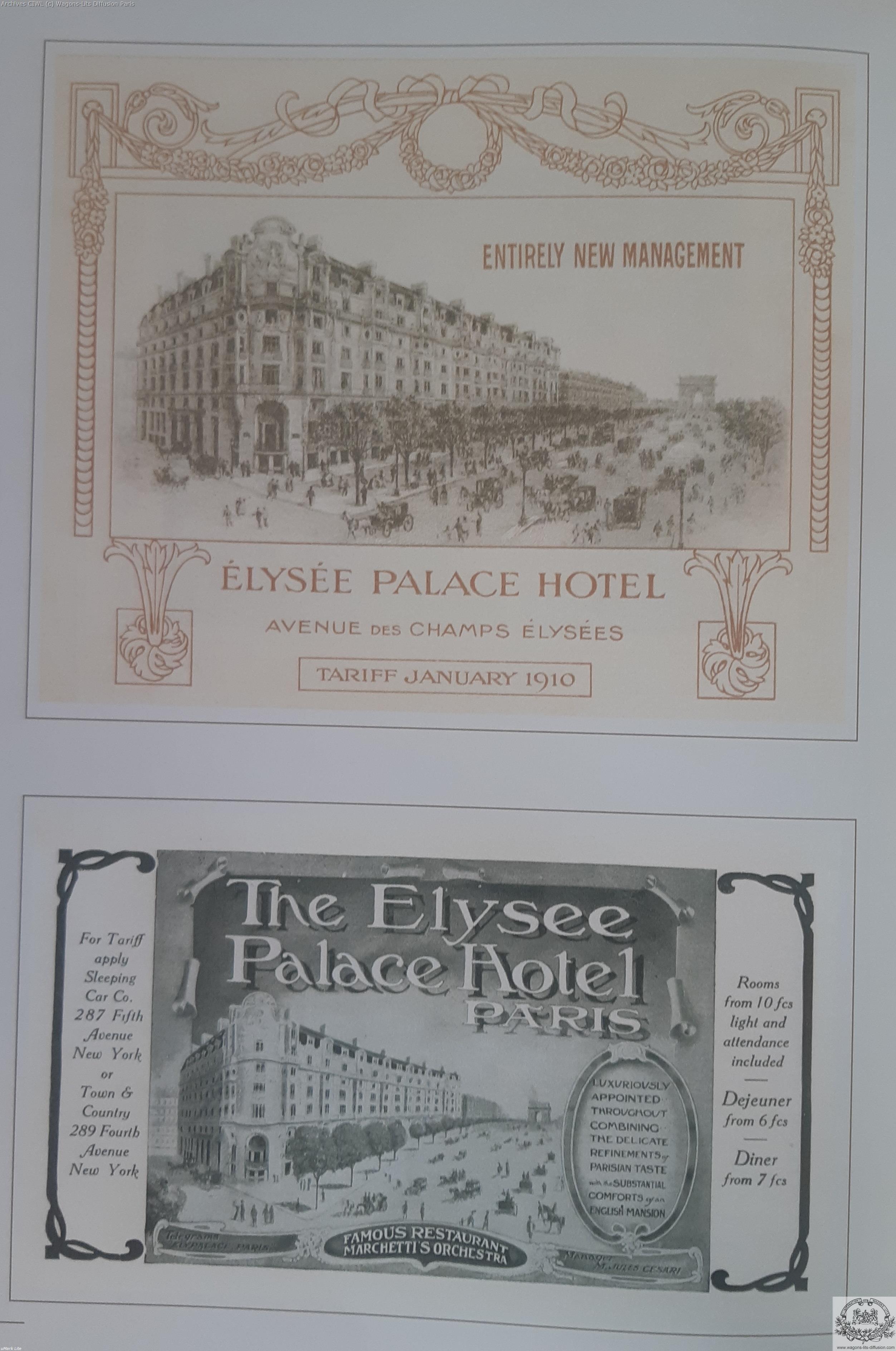 Wl elysees palace hotel paris 1900 pub 3