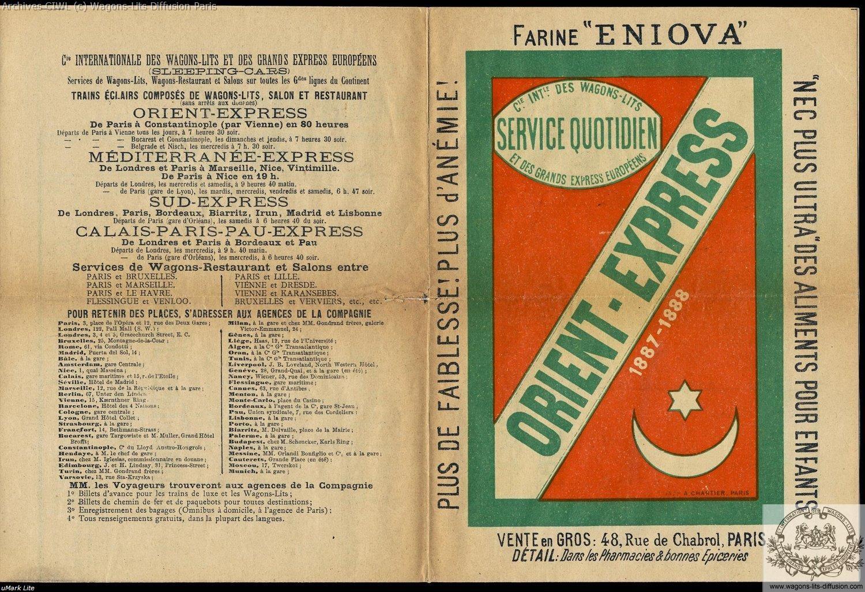 Wl first orient express brochure 1887