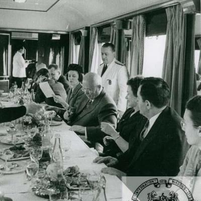 WL Krutcheff et Gromiko à bord d'une VR CIWL en 1960