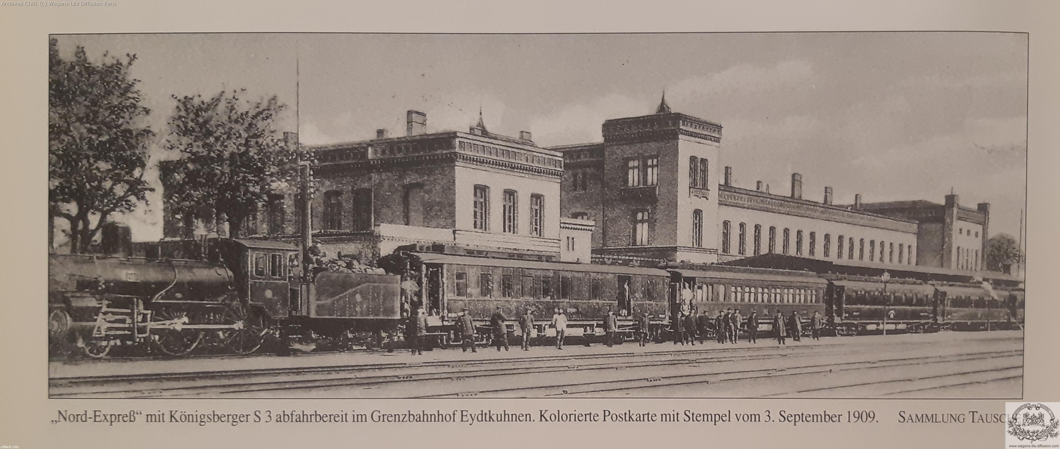 Wl nord express gare de grenz en 1909